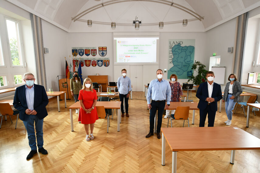 Die Jury traf sich in der Aula des Kreishauses, um die Sieger des Integrationspreises zu ermitteln.