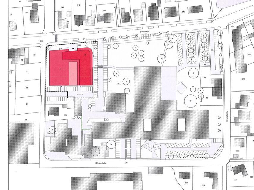 Lageplan vom Bildungscampus in Brakel.