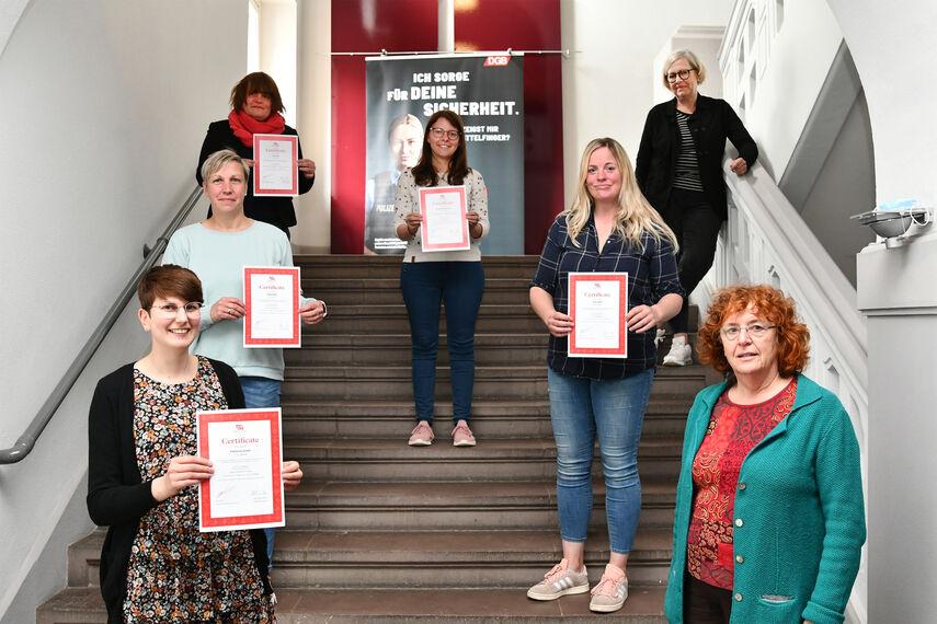 6 Teilnehmerinnen erhalten das Marte Meo Zertifikat